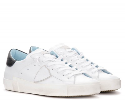 Laterale Sneaker da donna Philippe Model Paris X in pelle bianca