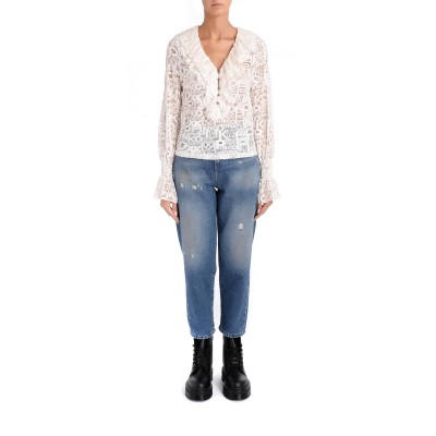 Laterale Jeans Mom Fit Pinko in denim blue