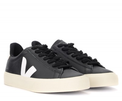 Laterale Baskets Veja Campo Easy en cuir noir