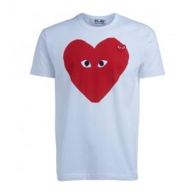 T-Shirt Comme Des Garçons PLAY blanche coeur rouge