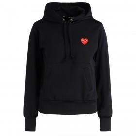 Sweat-shirt Comme Des Garçons Play noir avec un cœur rouge