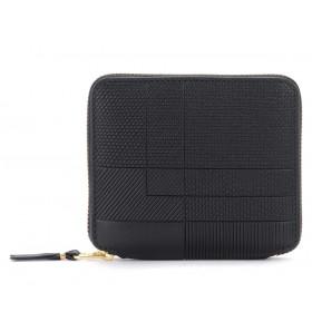 Portefeuille Comme Des Garçons Wallet Intersection en cuir noir