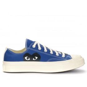 Baskets Comme des Garçons Play x Converse en toile de coton bleu avec cœur noir