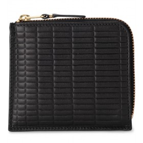 Portefeuille Comme Des Garçons Wallet Brick Line en cuir noir