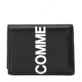 Portefeuilles Comme Des Garçons Wallet Huge Logo en cuir noir