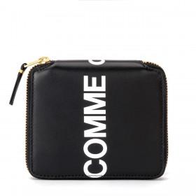 Portefeuille Comme Des Garçons Wallet Huge Logo en cuir noir