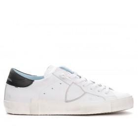 Sneaker da uomo Philippe Model Paris X in pelle bianca