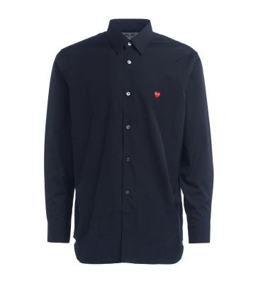 Camicia Comme Des Garcons PLAY di colore nero