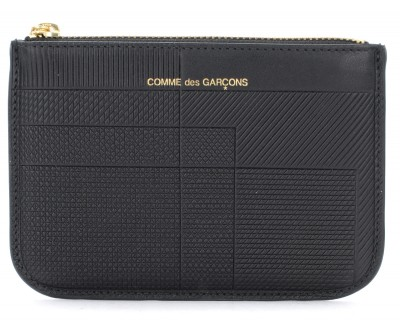 Bustina Comme Des Garçons Wallet Intersection in pelle nera