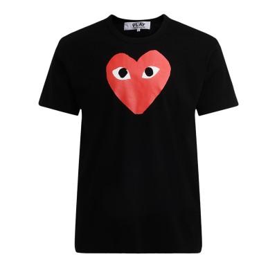 T-Shirt Comme Des Garçons PLAY nera con cuore rosso