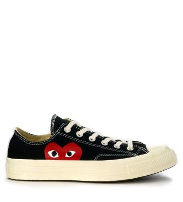 Sneaker Comme des Garçons Play x Converse in canvas nero