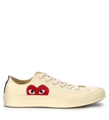 Sneaker Comme des Garçons Play x Converse in canvas beige