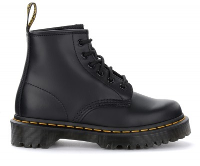 Anfibio Dr. Martens 101 Bex Smooth in pelle nera