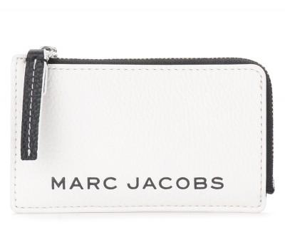 Portatessere The Marc Jacobs The Colorblock Small Top Zip bianco e nero