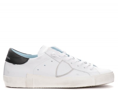 Sneaker da donna Philippe Model Paris X in pelle bianca