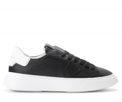 Sneaker Philippe Model Temple in pelle nera