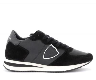 Sneaker Philippe Model Tropez X in pelle e suede nero