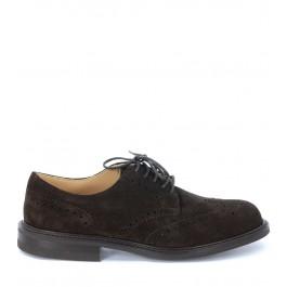 Zapato con cordones Church's Newark de ante marrón