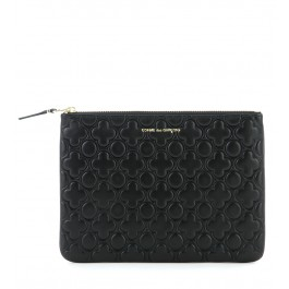 Clutch Comme des Garcons wallet de piel color negro
