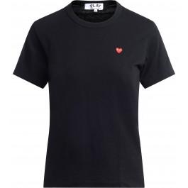 Camiseta Comme des Garçons de cuello redondo negra