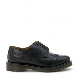 Zapato Dr Martens de piel perforada negra