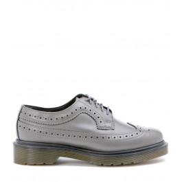 Zapato con cordones Dr Martens de piel perforada gris