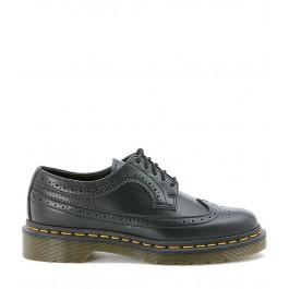 Zapato con cordones Dr Martens de piel perforada color negro