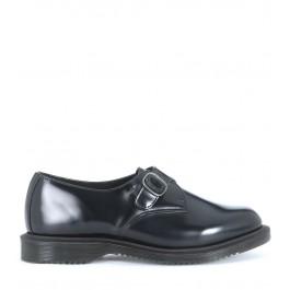 Zapato Dr Martens Kensington de piel cepillada negra