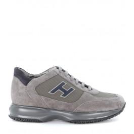 Sneaker Hogan Interactive en gamuza gris