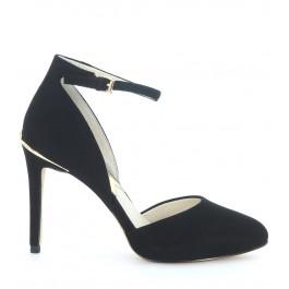 Zapato de salón Georgia Ankle Strap Michael Kors de ante negro