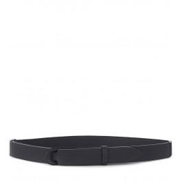 Cinturón Orciani en piel negra martillada
