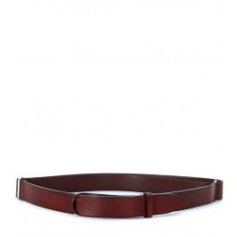 Cinturón Orciani en piel color marrón cuero