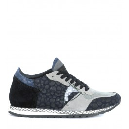 Sneaker Philippe Model Special Resau in pelle nera