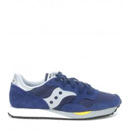 Sneaker Saucony DXN Trainer de ante y nylon azul