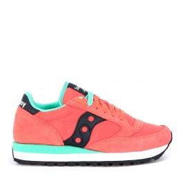 Sneaker modelo Saucony Jazz en suede y nailon color rosa fresa