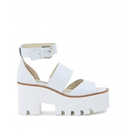Sandalia Windsor Smith mod. Puffy de piel blanca