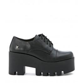 Zapato con cordones Windsor Smith de piel negra