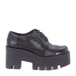 Zapato de cordones Windsor Smith Foxy Ws de piel negra