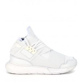 Sneaker Y-3 Qasa High en neoprene y piel blanca