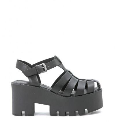 Sandalo Windsor Smith Fluffy nero fronte