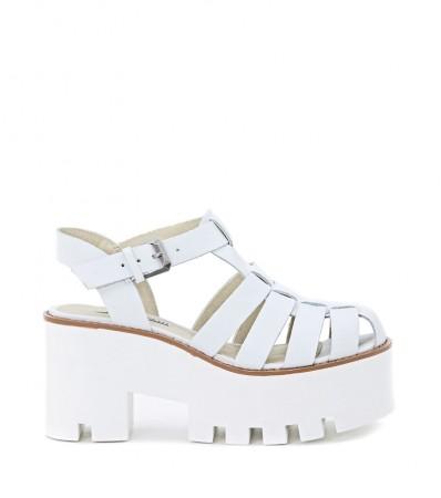 Sandalo Windsor Smith mod. Fluffy bianco fronte