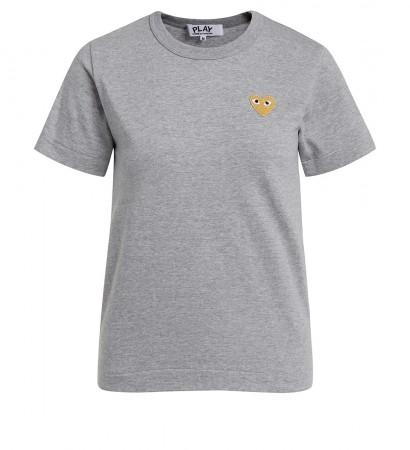 T-shirt Comme des Garçons Play girocollo grigia