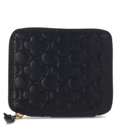 Portafoglio Wallet Comme Des Garçons in pelle nera quadrifoglioPortafoglio Wallet Comme Des Garçons in pelle nera quadrifoglioPortafoglio Wallet Comme Des Garçons in pelle nera quadrifoglio
