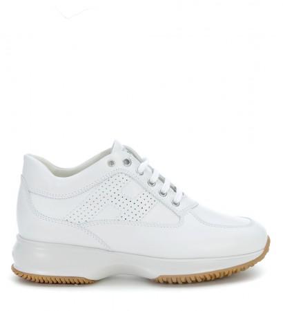 Sneakers Hogan Interactive in pelle bianca