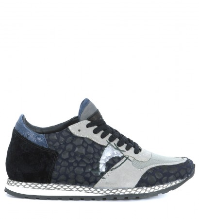 Sneaker Philippe Model Special Resau in pelle nera