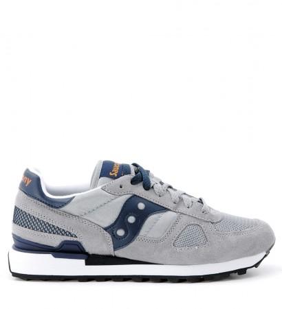Sneaker Saucony Shadow in camoscio e tessuto grigio