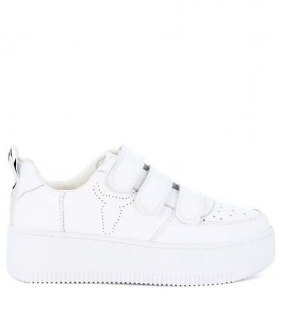 Sneaker Windsor Smith Fastt en piel blanca