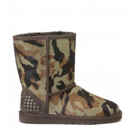 Tronchetto Ugg, mod. Rowland, in cavallino camouflage