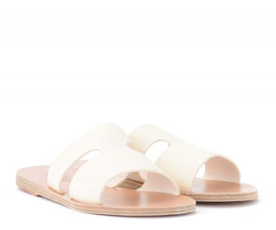 Laterale Chancla Ancient Greek Sandals Apteros de piel blanca