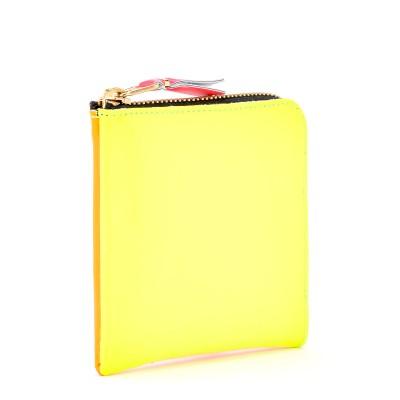 Laterale Cartera Comme Des Garçons Wallet de piel amarilla y naranja fluo